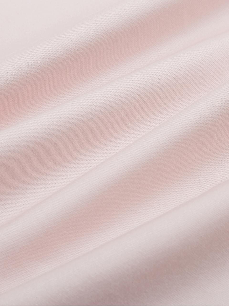 Katoensatijnen dekbedovertrek Premium in roze met bies, Weeftechniek: satijn, licht glanzend, Roze, 140 x 200 cm