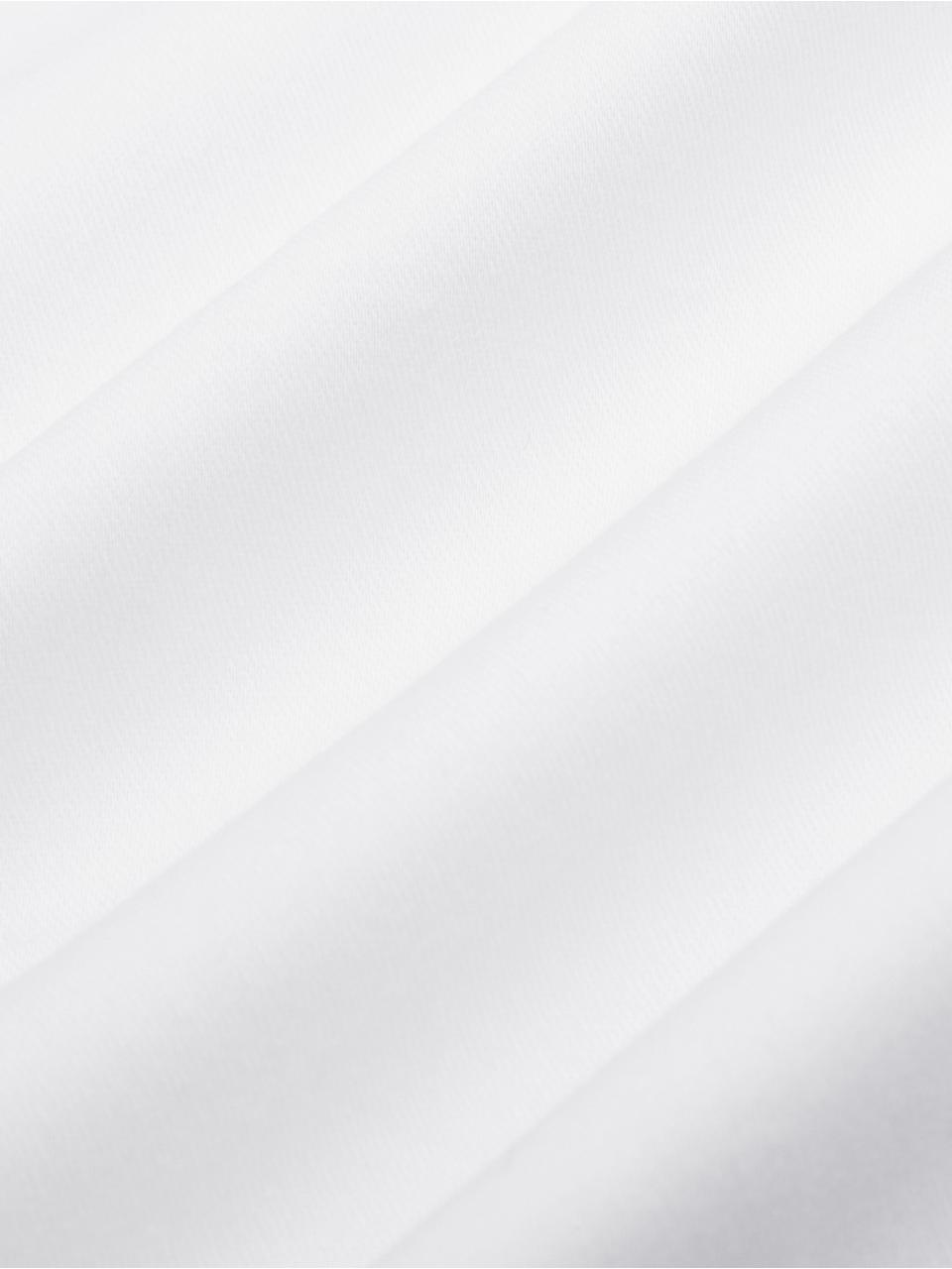 Baumwollsatin-Bettwäsche Premium in Weiss mit Stehsaum, Webart: Satin Fadendichte 400 TC,, Weiss, 135 x 200 cm + 1 Kissen 80 x 80 cm