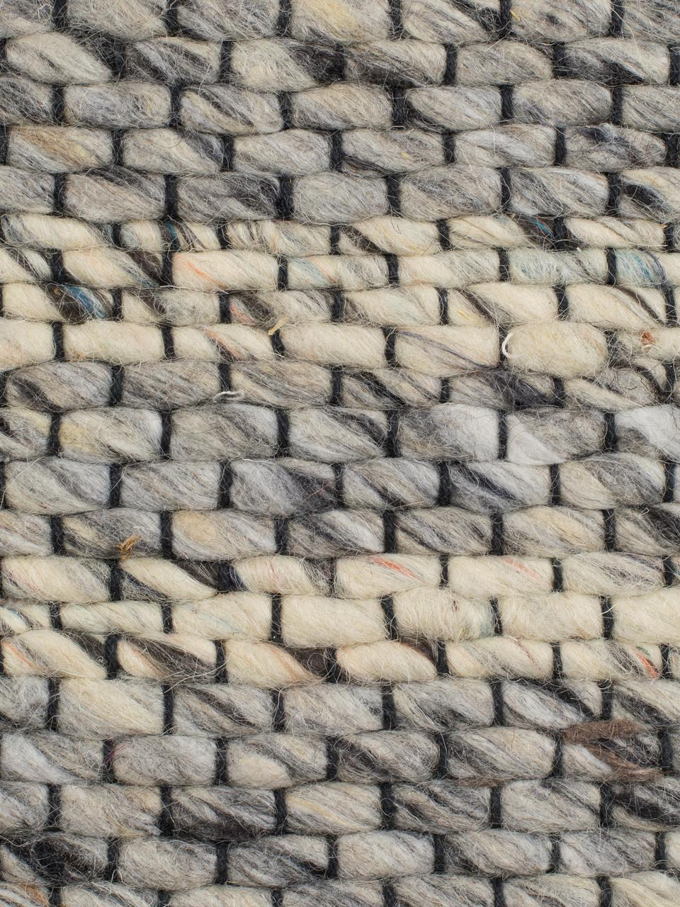 Dywan z wełny z frędzlami Frills, Odcienie szarego, beżowy, S 170 x D 240 cm (Rozmiar M)