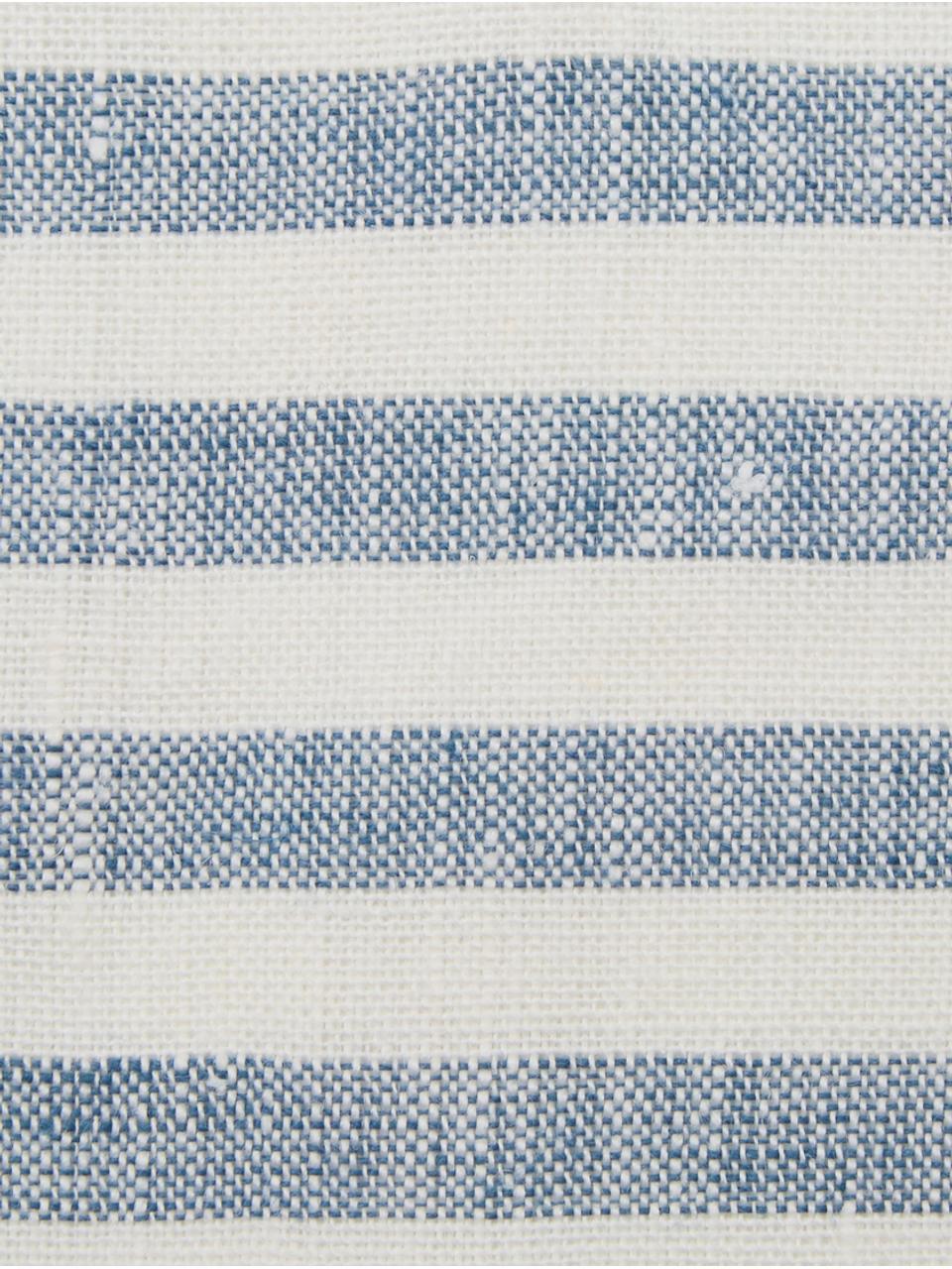Tovaglietta americana in lino Solami 2 pz, Lino, Azzurro, bianco, Larg. 35 x Lung. 45 cm