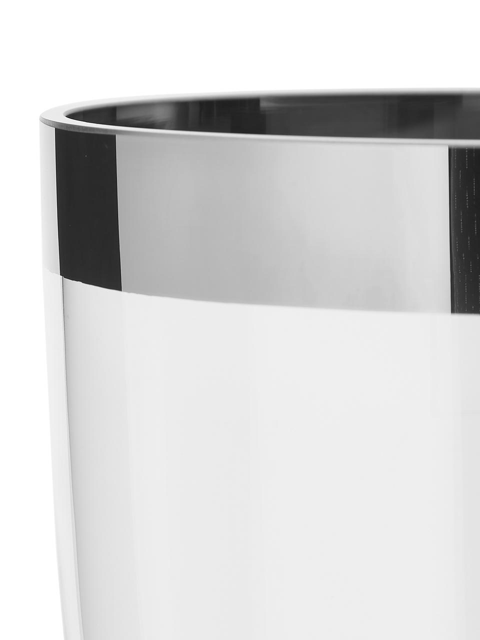Mondgeblazen vaas Charlotte van platina glas, Platinaglas, Transparant, H 20 cm