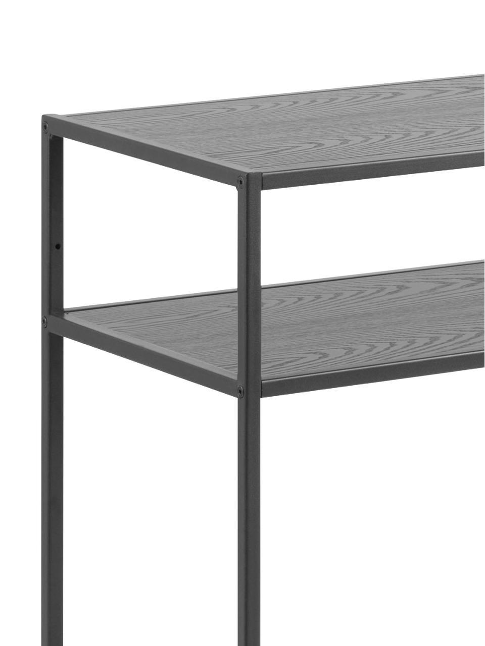 Console en bois et métal Seaford, Noir