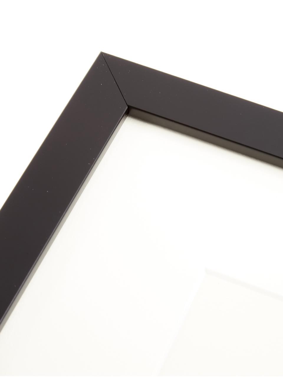 Stampa digitale incorniciata Akt Lady IV, Immagine: stampa digitale, Cornice: materiale sintetico, Immagine: nero, beige<br>Cornice: nero, L 40 x A 40 cm