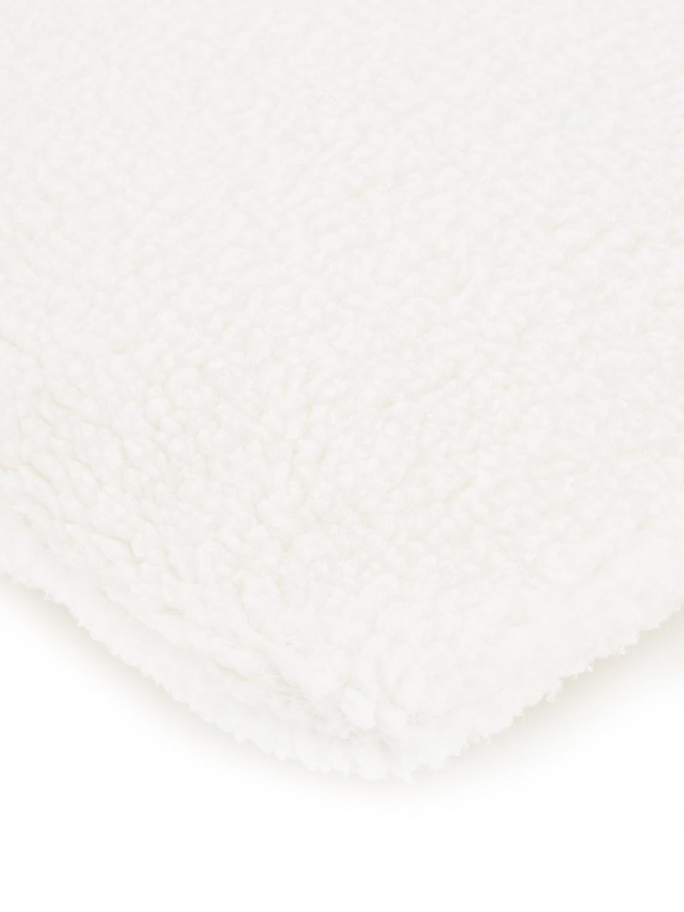 Flauschige Teddy-Kissenhülle Mille, Vorderseite: 100% Polyester (Teddyfell, Rückseite: 100% Polyester (Teddyfell, Creme, 45 x 45 cm