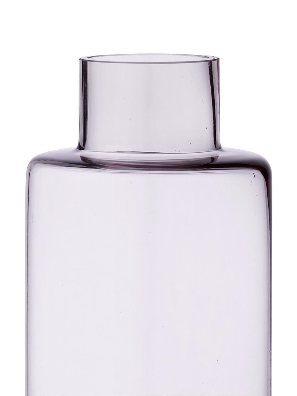 Grote mondgeblazen vaas Hedria, Glas, Roze, Ø 11 x H 30 cm