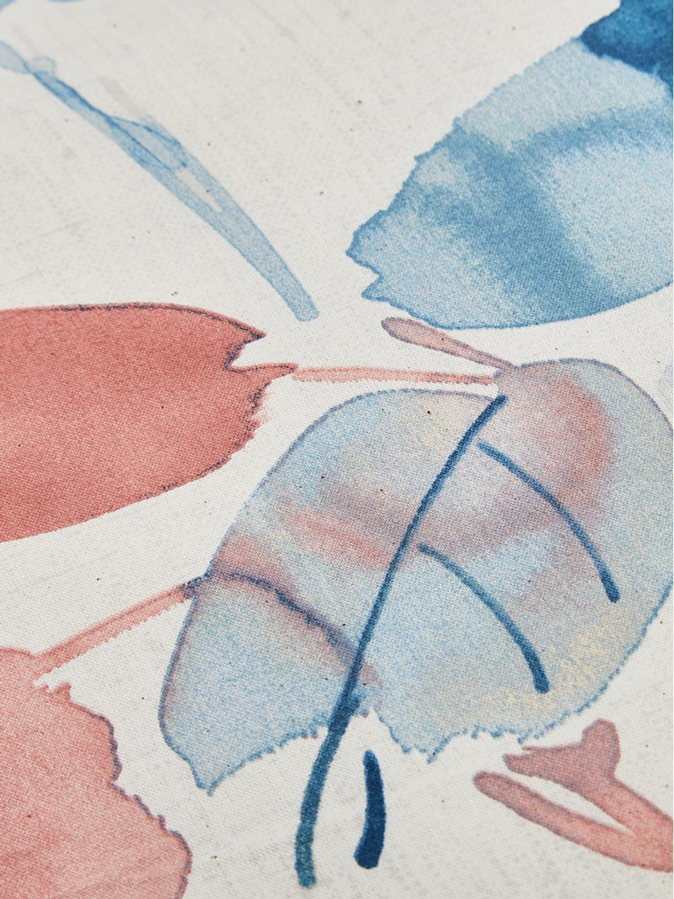 Taie d'oreiller 50x70 Feuillages Boréal, 2pièces, Écru, vieux rose, tons bleus