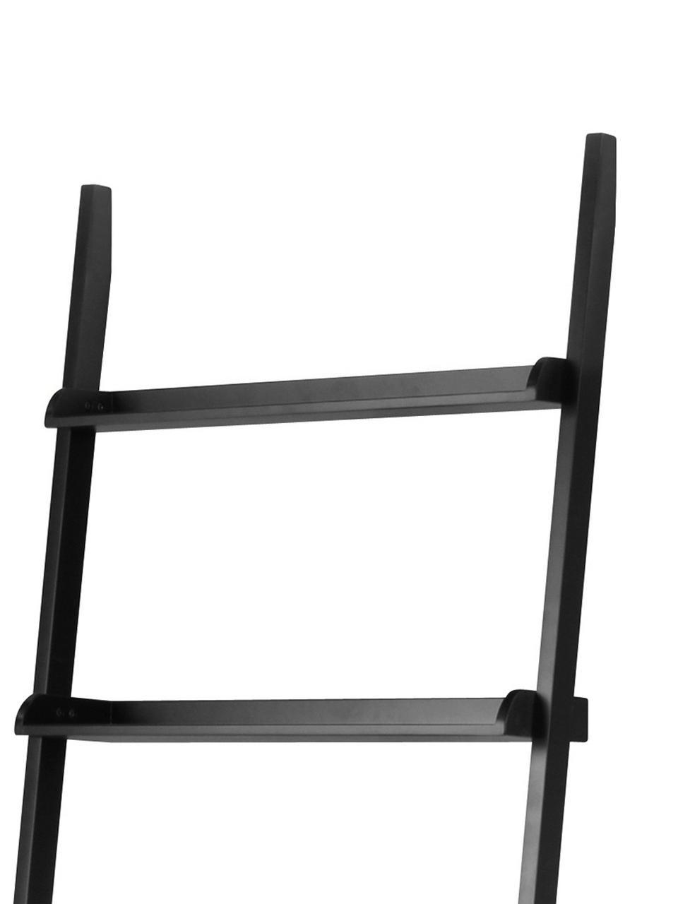 Leiter-Regal Wally in Schwarz, Mitteldichte Holzfaserplatte (MDF), Schwarz, 67 x 189 cm
