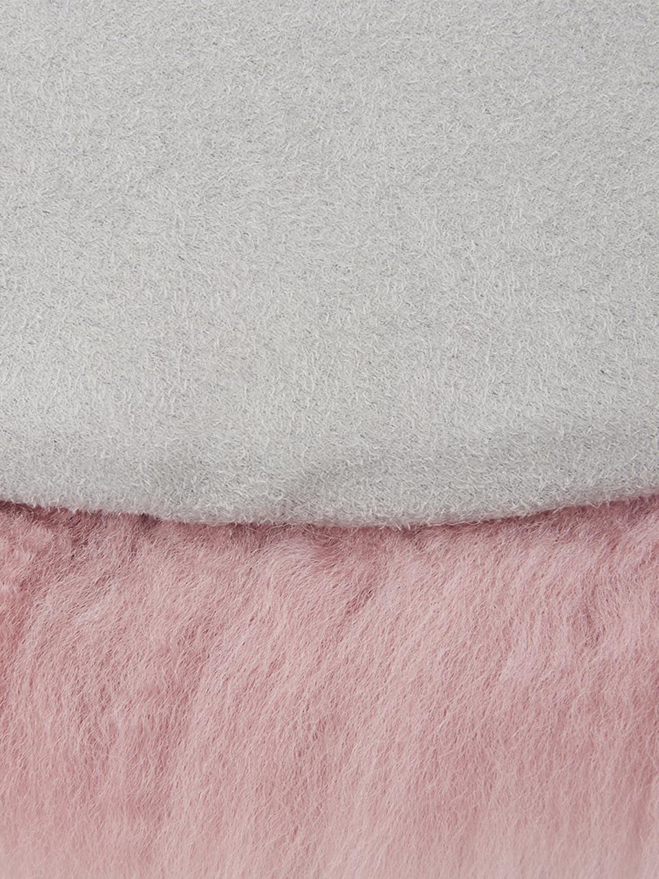 Runde Schaffell-Sitzauflage Oslo, glatt, Flor: 100% Schaffell, Rückseite: 100% Polyester, Rosa, Ø 37 cm