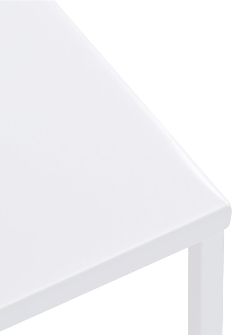 Couchtisch Stina aus Metall, Metall, pulverbeschichtet, Weiß, matt, 90 x 45 cm