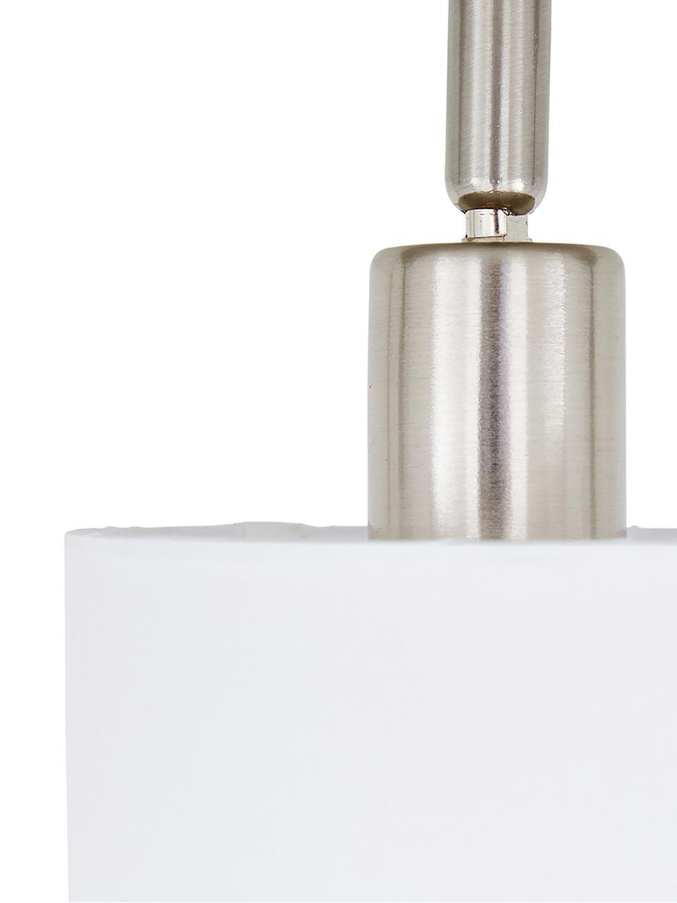 Klassischer Deckenstrahler Casper, Baldachin: Metall, vernickelt, Silberfarben,Weiß, 78 x 7 cm