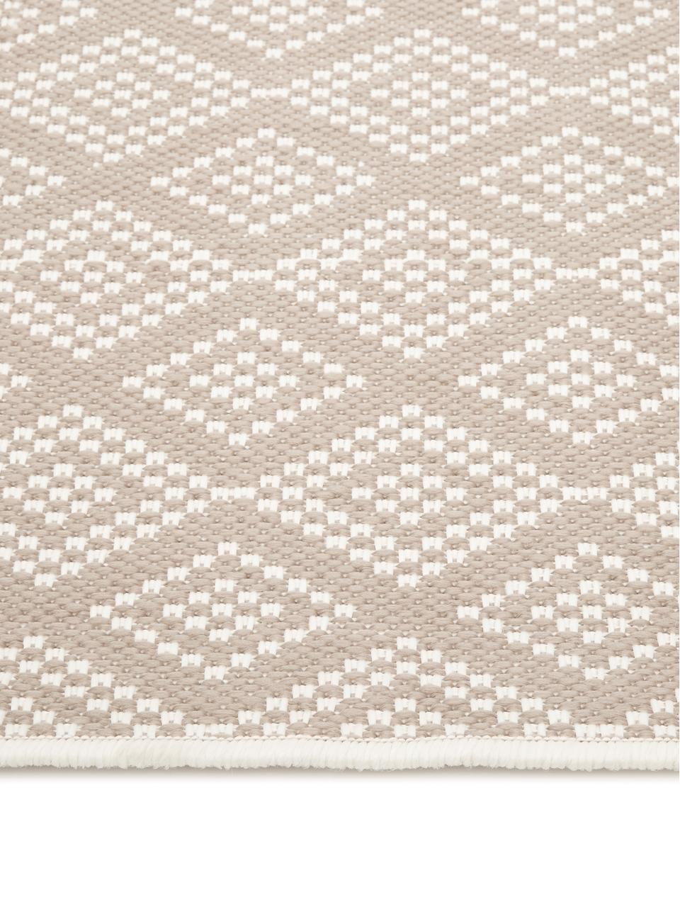 In- & outdoor vloerkleed Capri in beige/crèmekleur, Bovenzijde: 100% polypropyleen, Onderzijde: polyester, Crèmewit, beige, B 80 x L 150 cm (maat XS)