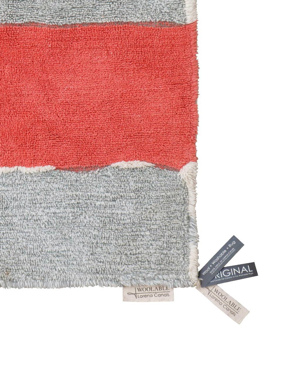 Tapis en laine lavable Woolable Abstra, Multicolore