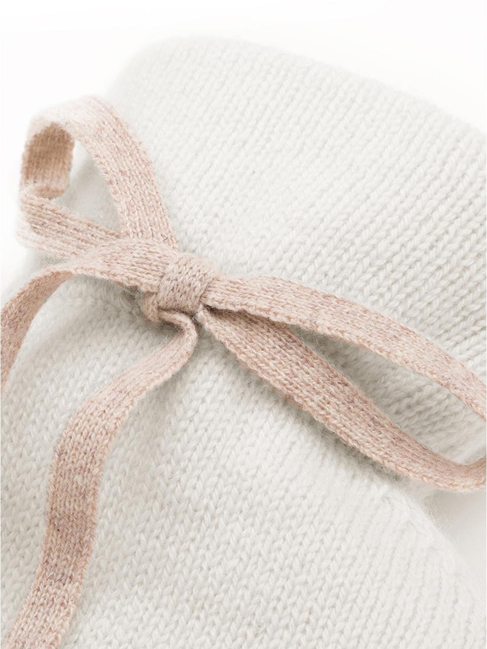 Kaschmir-Wärmflasche Florentina, Bezug: 70% Kaschmir, 30% Merinow, Bezug: CremeweißZierschleife: BeigeWärmflasche: Cremeweiß, 19 x 30 cm
