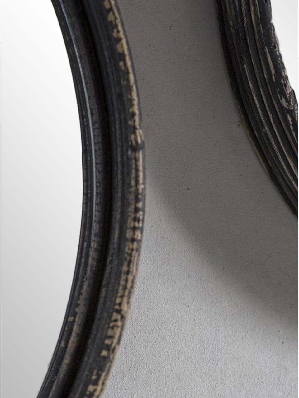 Rundes Wandspiegel-Set Ricos mit Rattanrahmen, 3-tlg., Rahmen: Rattan, beschichtet, Spiegelfläche: Spiegelglas, Dunkelbraun, Schwarz, Sondergrößen