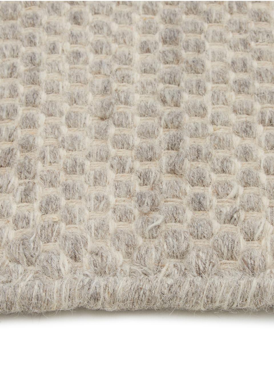 Handgeweven Kelim vloerkleed Delight van wol in lichtgrijs, Lichtgrijs, B 200 x L 300 cm (maat L)