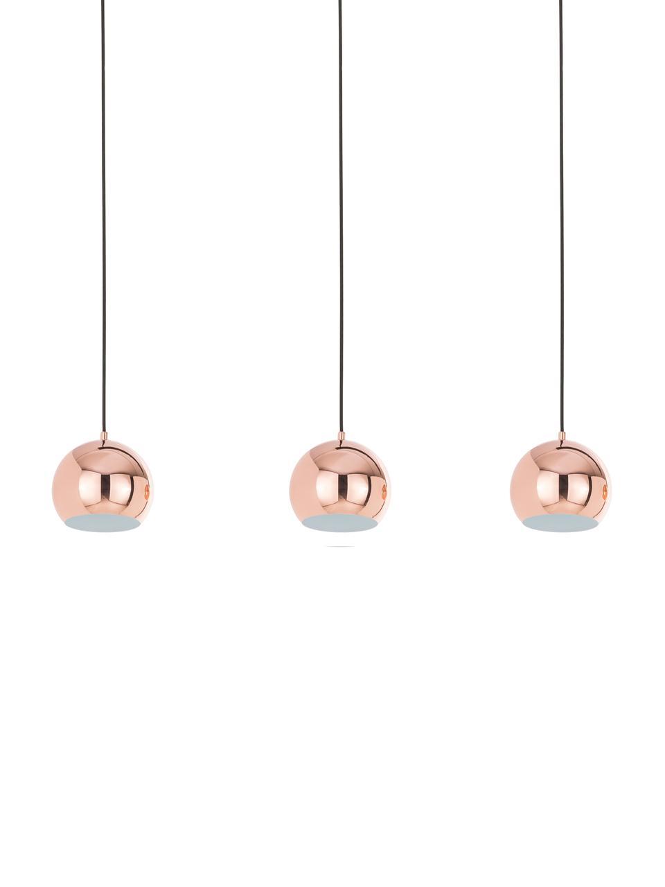 Lampa wisząca Ball, Miedź, połyskujacy, czarny, matowy, S 100 x W 168 cm
