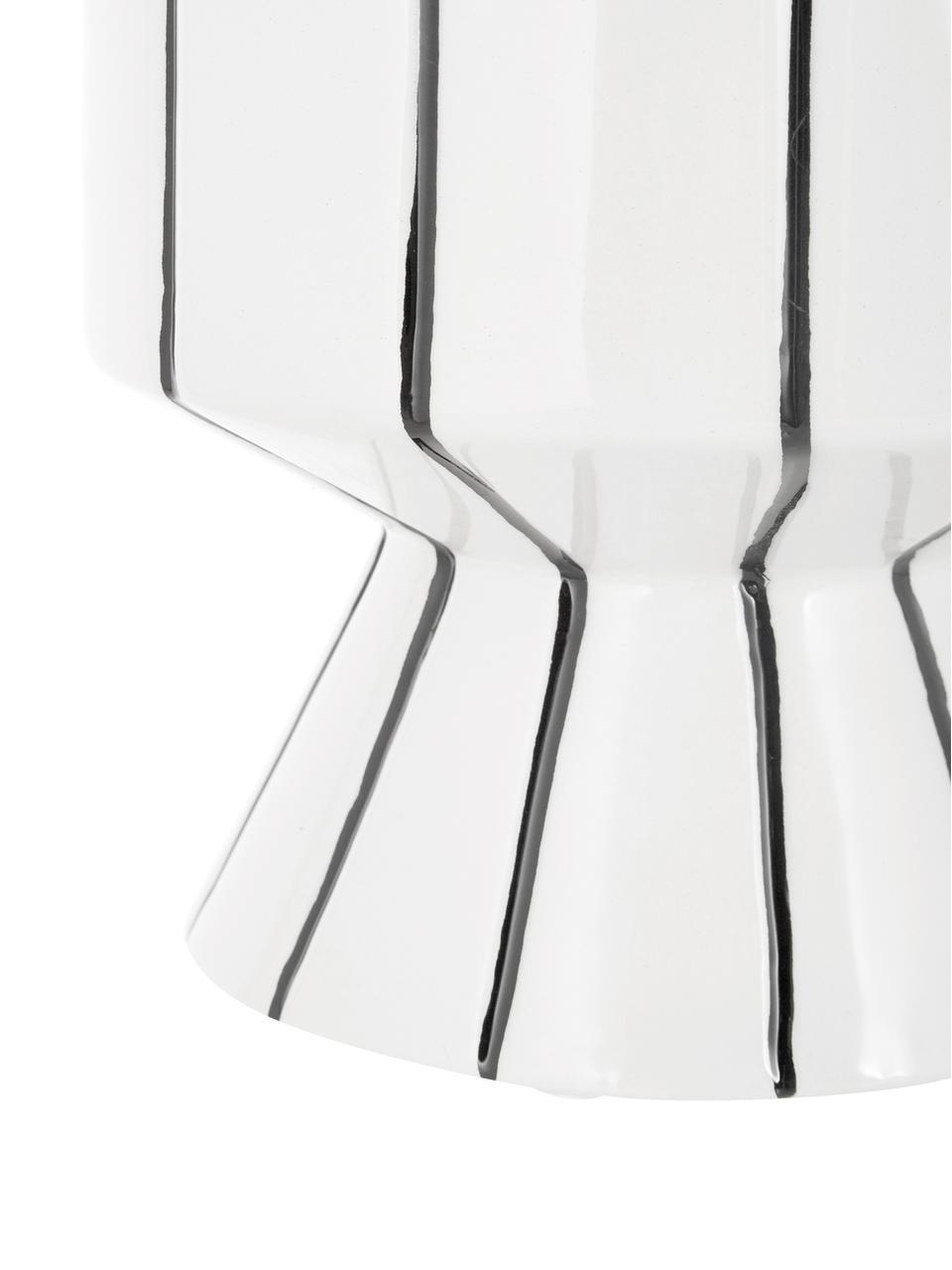 Cache-pot blanc Reno, Blanc, noir