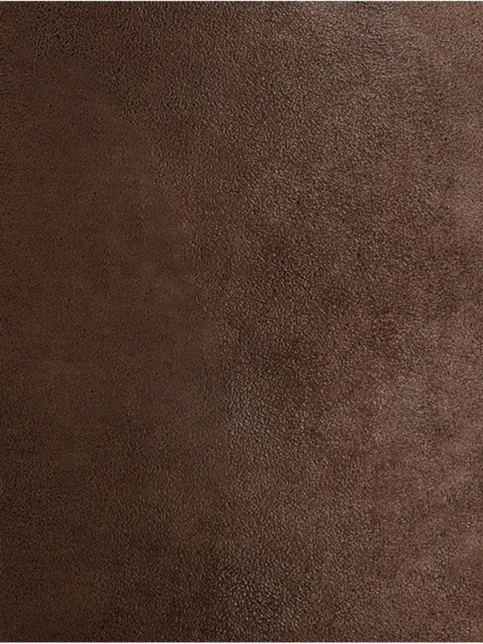 Pouf in similpelle Cuba, Rivestimento: similpelle (96% poliester, Marrone, Ø 50 x Alt. 30 cm