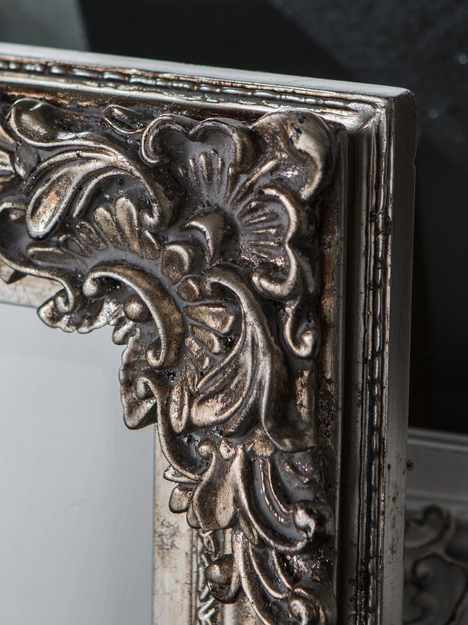 Eckiger Anlehnspiegel Fiennes, Rahmen: Holz, lackiert, Spiegelfläche: Spiegelglas, Silberfarben, 70 x 160 cm