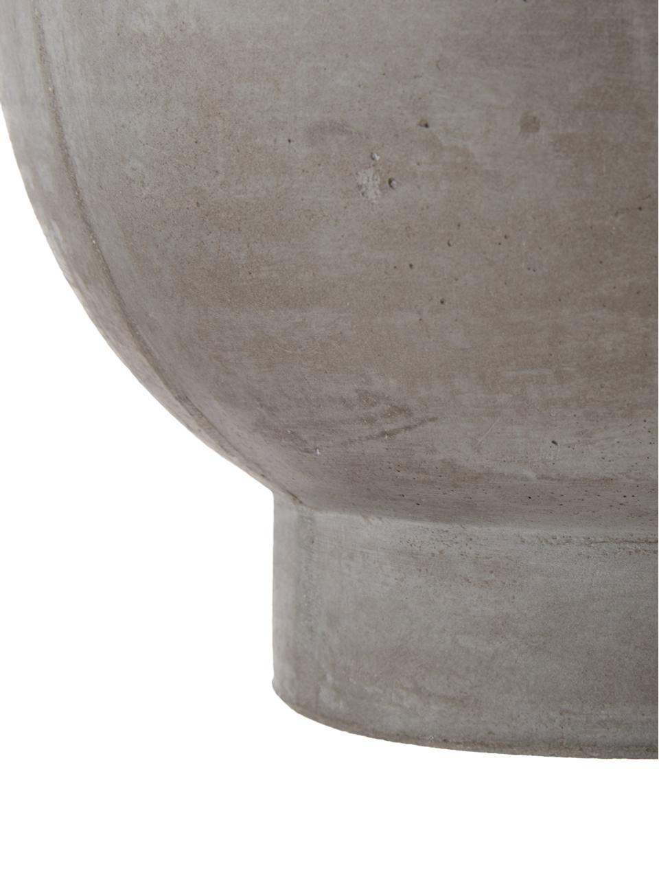 Großer Pflanztopf Rom aus Zement, Zement, Grau, Ø 23 x H 18 cm