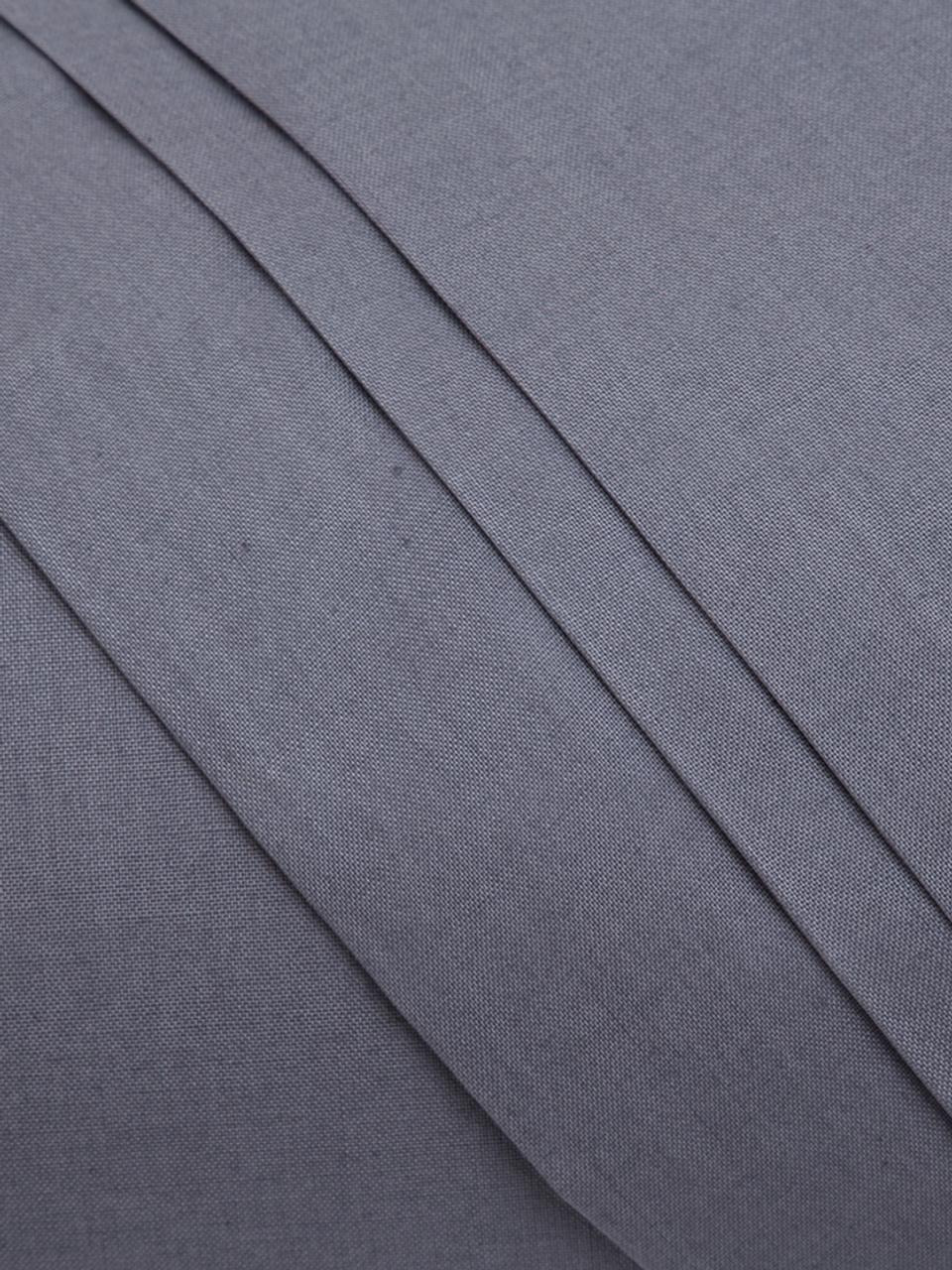 Set lenzuola in cotone ranforce Lenare, Tessuto: ranforce, Fronte e retro: grafite, 150 x 290 cm