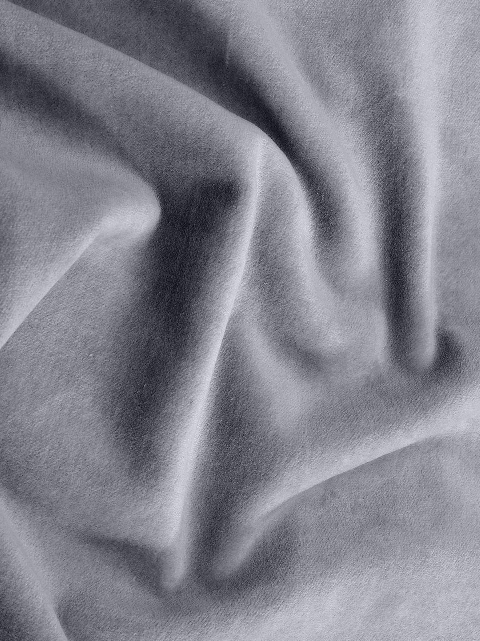 Housse de coussin velours gris Dana, Gris foncé
