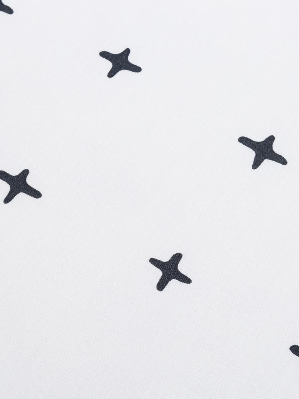 Baumwoll-Wendebettwäsche Odd Twins, gemustert/gestreift, Webart: Renforcé Renforcé besteht, Weiß, Anthrazit, 135 x 200 cm + 1 Kissen 80 x 80 cm