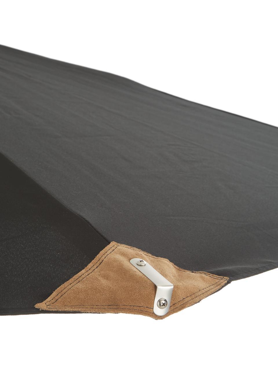 Parasol Capri, Blanc délavé, noir