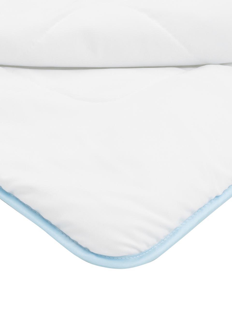 Microfaser-Bettdecke, warm, Bezug: Microfaser mit Rautenstep, Weiß, 135 x 200 cm