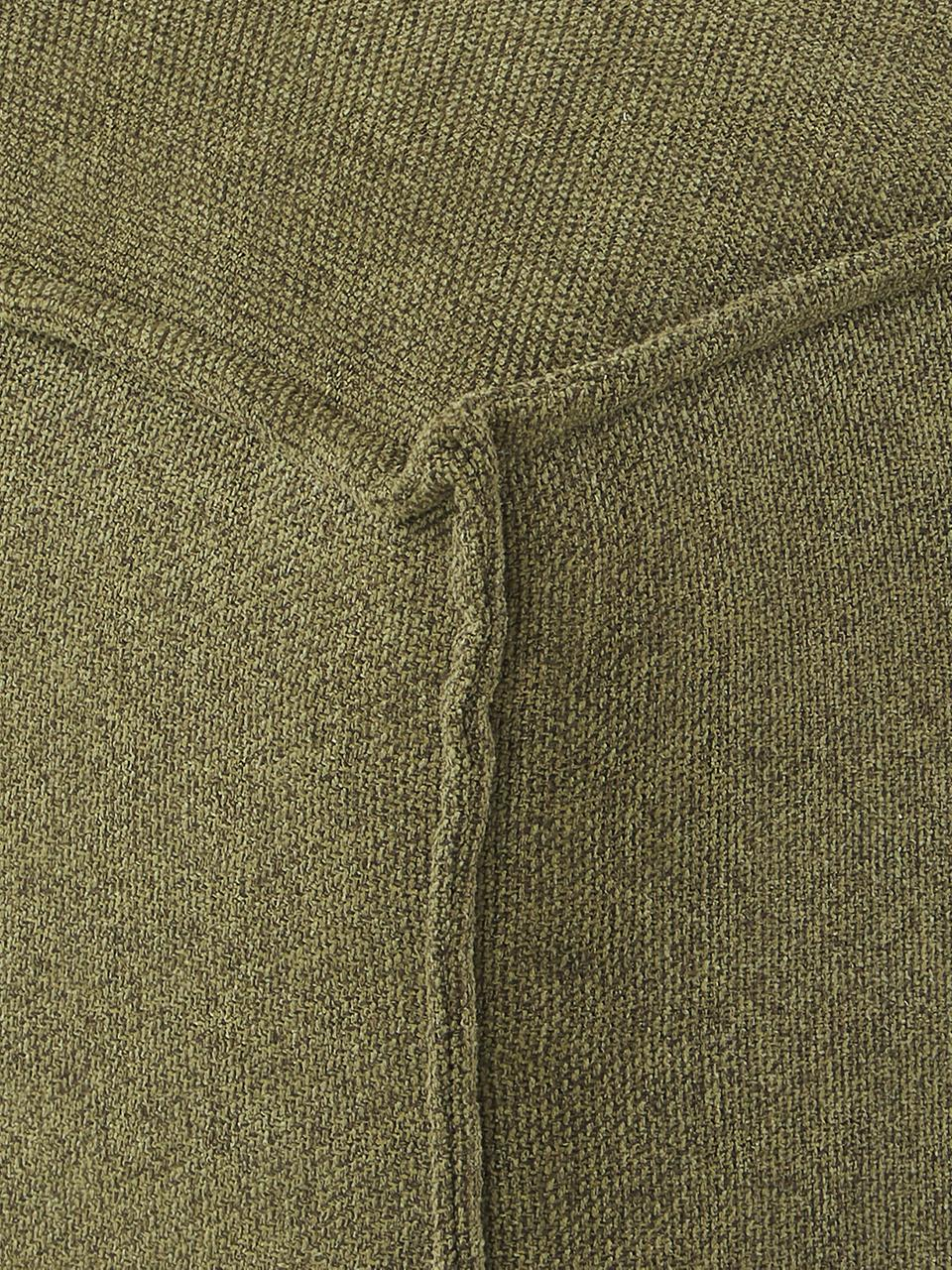 Sofa-Hocker Lennon in Grün, Bezug: 100% Polyester 35.000 Sch, Gestell: Massives Kiefernholz, Spe, Füße: Kunststoff, Webstoff Grün, 88 x 43 cm