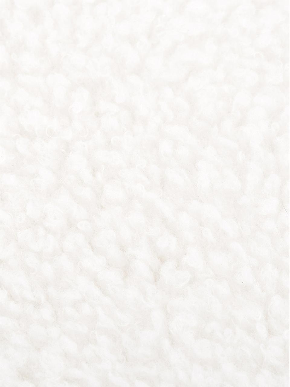 Flauschige Teddy-Kissenhülle Mille in Creme, Vorderseite: 100% Polyester (Teddyfell, Rückseite: 100% Polyester (Teddyfell, Creme, 30 x 50 cm