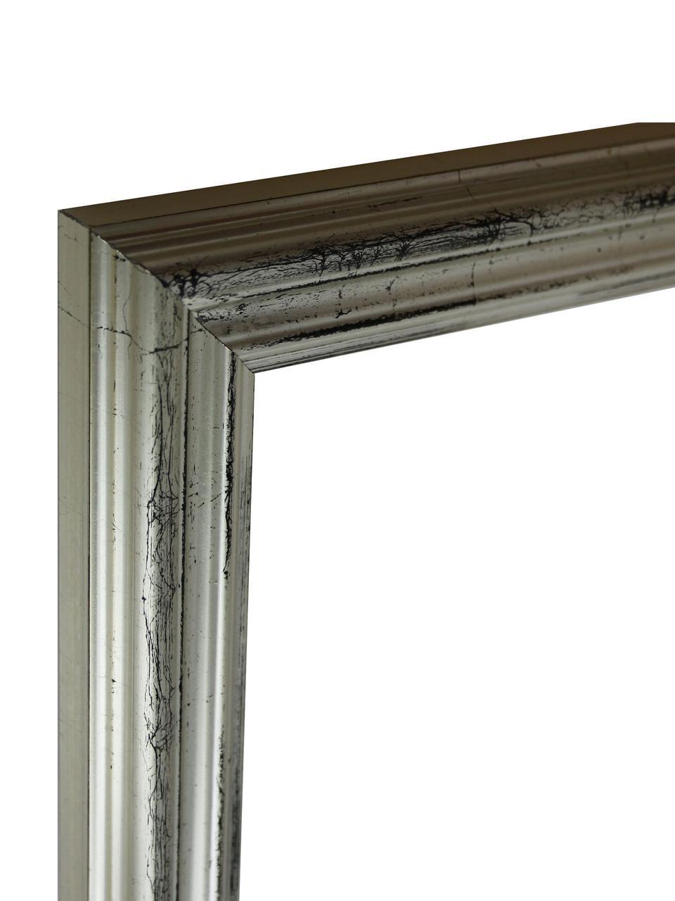 Gerahmter Digitaldruck L.A Dream, Bild: Digitaldruck, Rahmen: Holz, Front: Plexiglas, Bild: Schwarz, WeißRahmen: Silberfarben, 60 x 70 cm