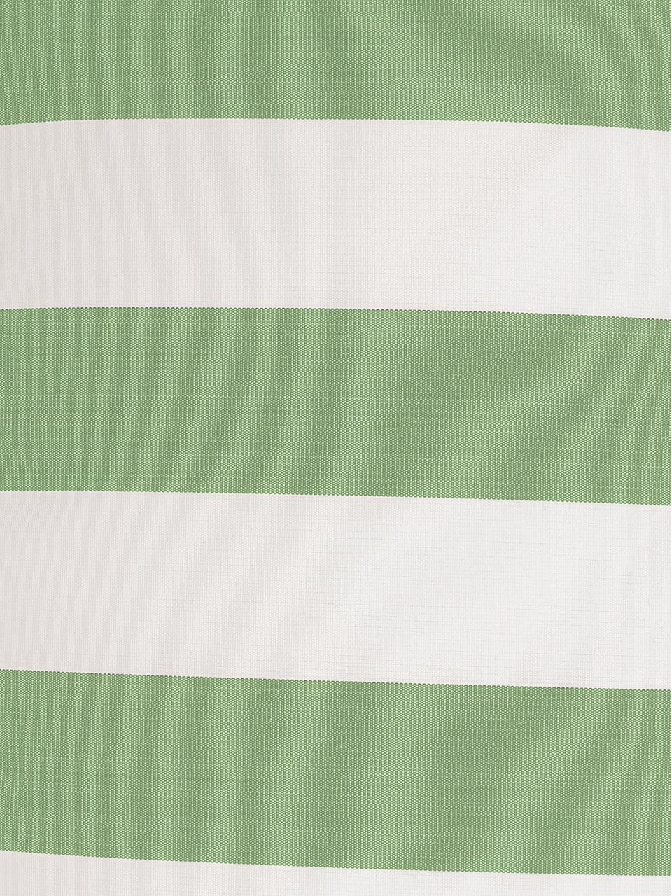 Gestreifte Outdoor-Kissenhülle Santorin in Grün/Weiß, 100% Polypropylen, Teflon® beschichtet, Grün, Weiß, 40 x 60 cm