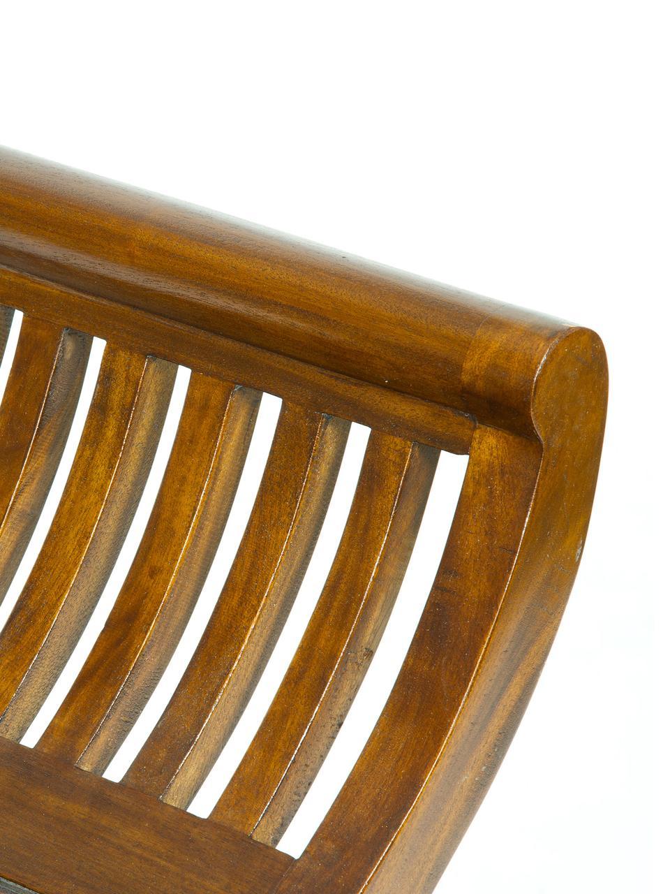 Hocker Charleston mit Armlehnen, Akazienholz, gebeizt und lackiert, Dunkelbraun, 60 x 60 cm