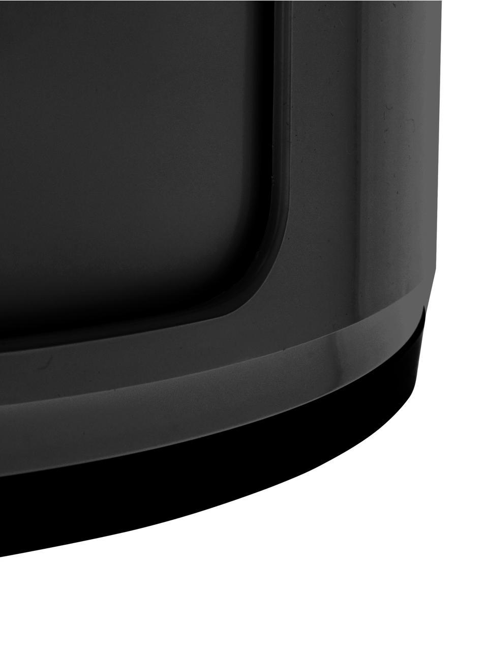 Design Container Componibili 3 Fächer, Kunststoff (ABS), lackiert, Schwarz, matt, Ø 32 x H 59 cm