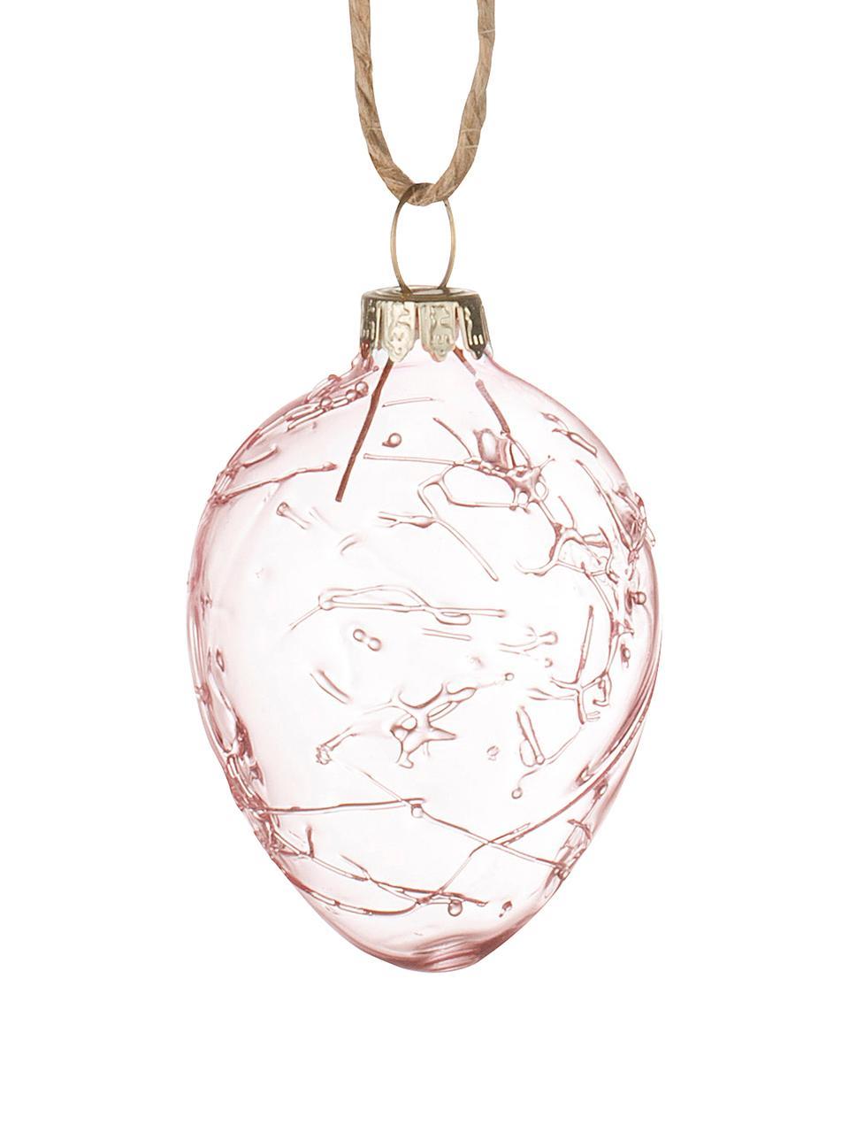 Œuf de Pâques à suspendre Clear, 3 pièces, Rose, transparent