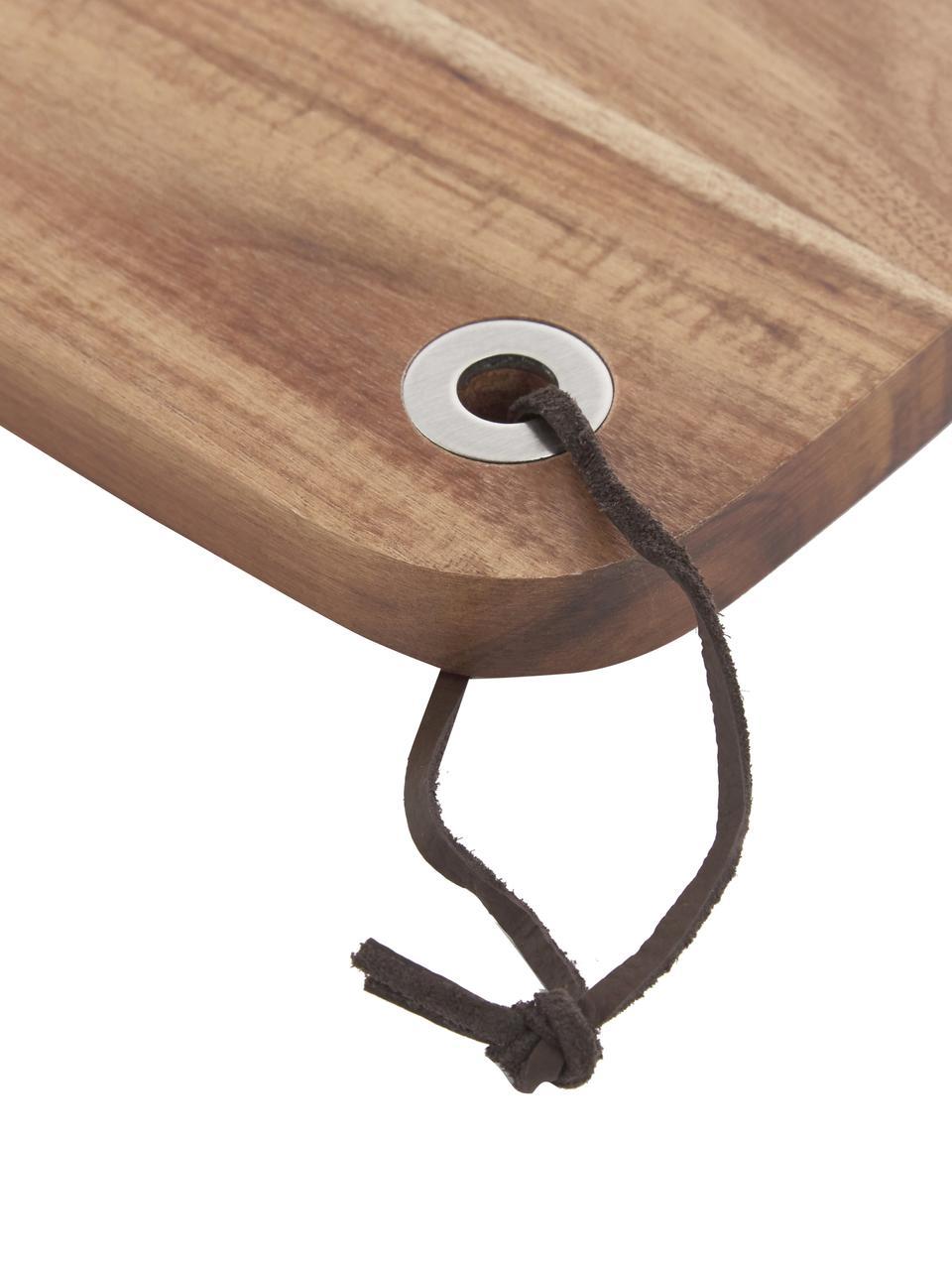 Tagliere in legno di acacia Acacia, 33x23 cm, Legno di acacia, Legno di acacia, Lung. 33 x Larg. 23 cm
