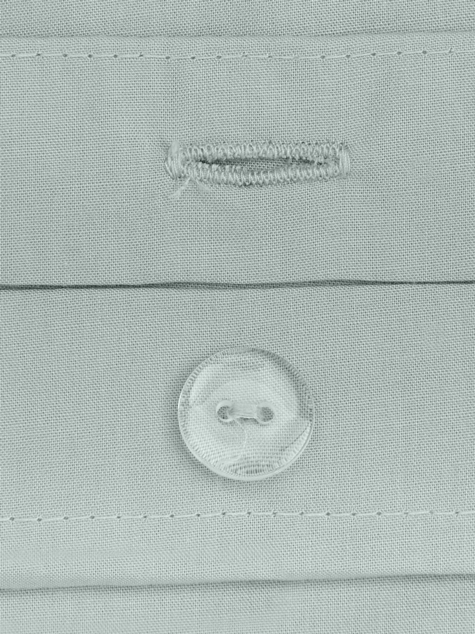 Baumwollperkal-Bettwäsche Elsie in Salbeigrün, Webart: Perkal Fadendichte 200 TC, Salbeigrün, 135 x 200 cm + 1 Kissen 80 x 80 cm