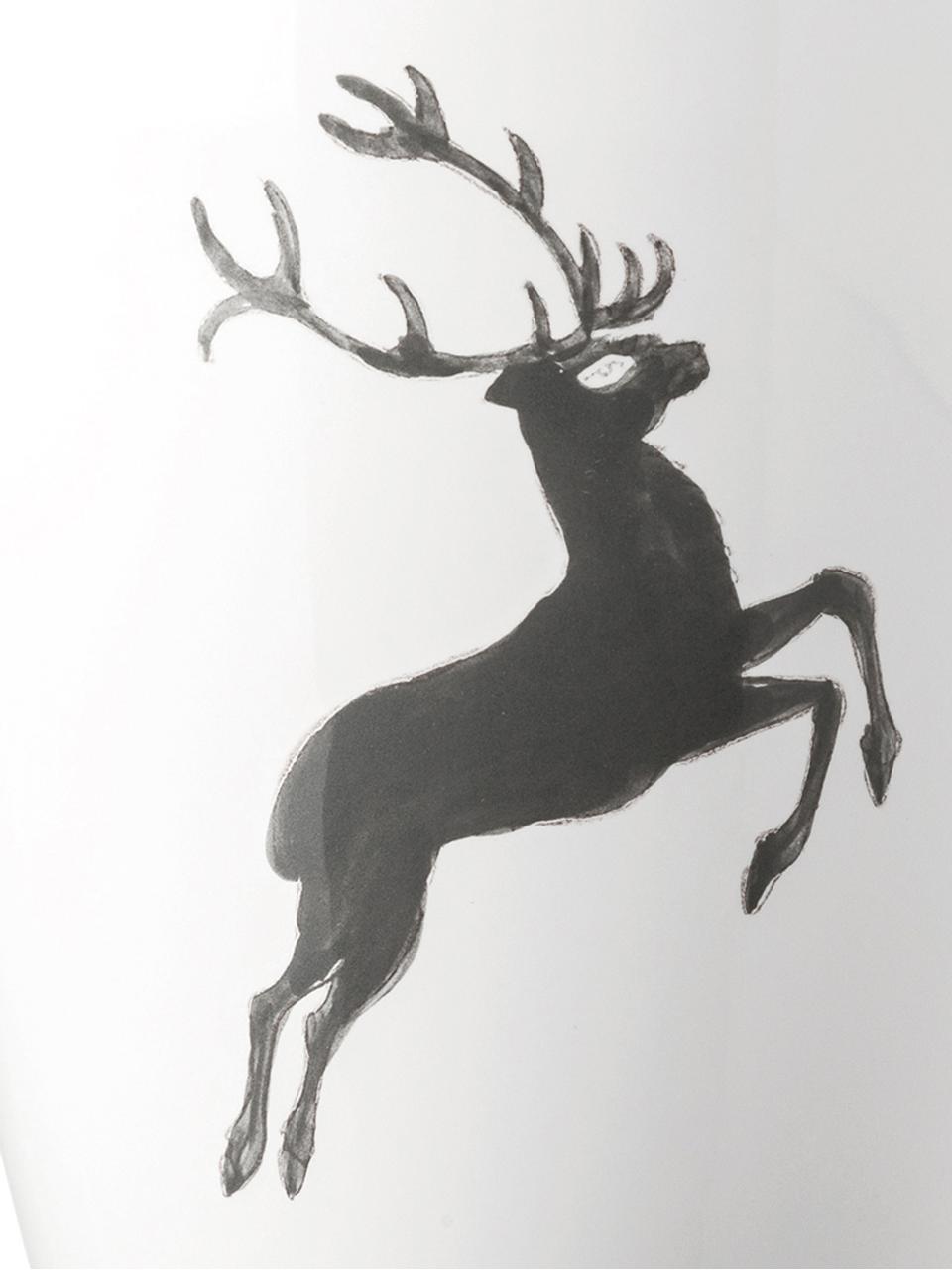 Mok Gourmet Grey Deer, Keramiek, Grijs, wit, 300 ml