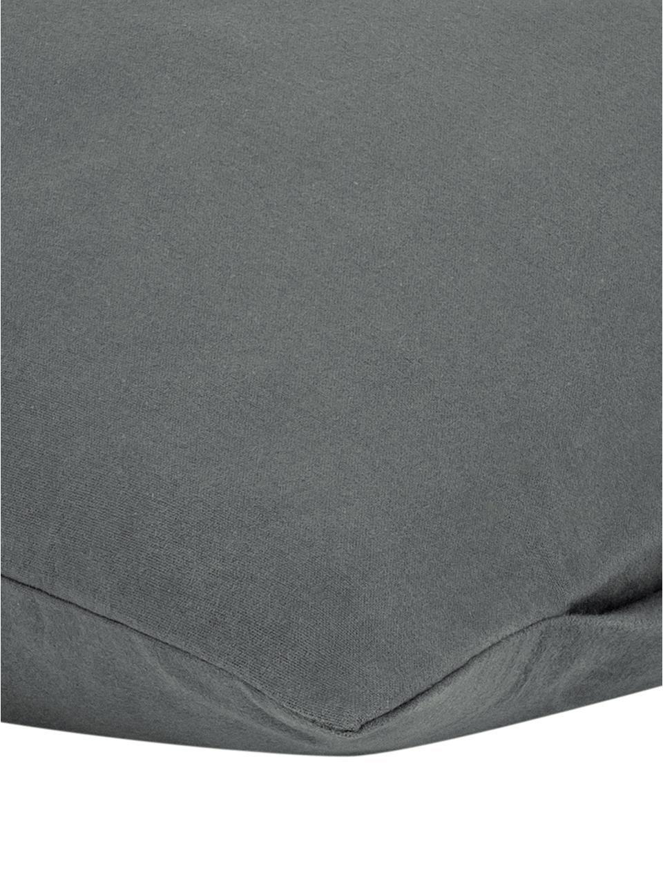 Flanell-Kissenbezüge Biba in Dunkelgrau, 2 Stück, Webart: Flanell Flanell ist ein k, Dunkelgrau, 40 x 80 cm