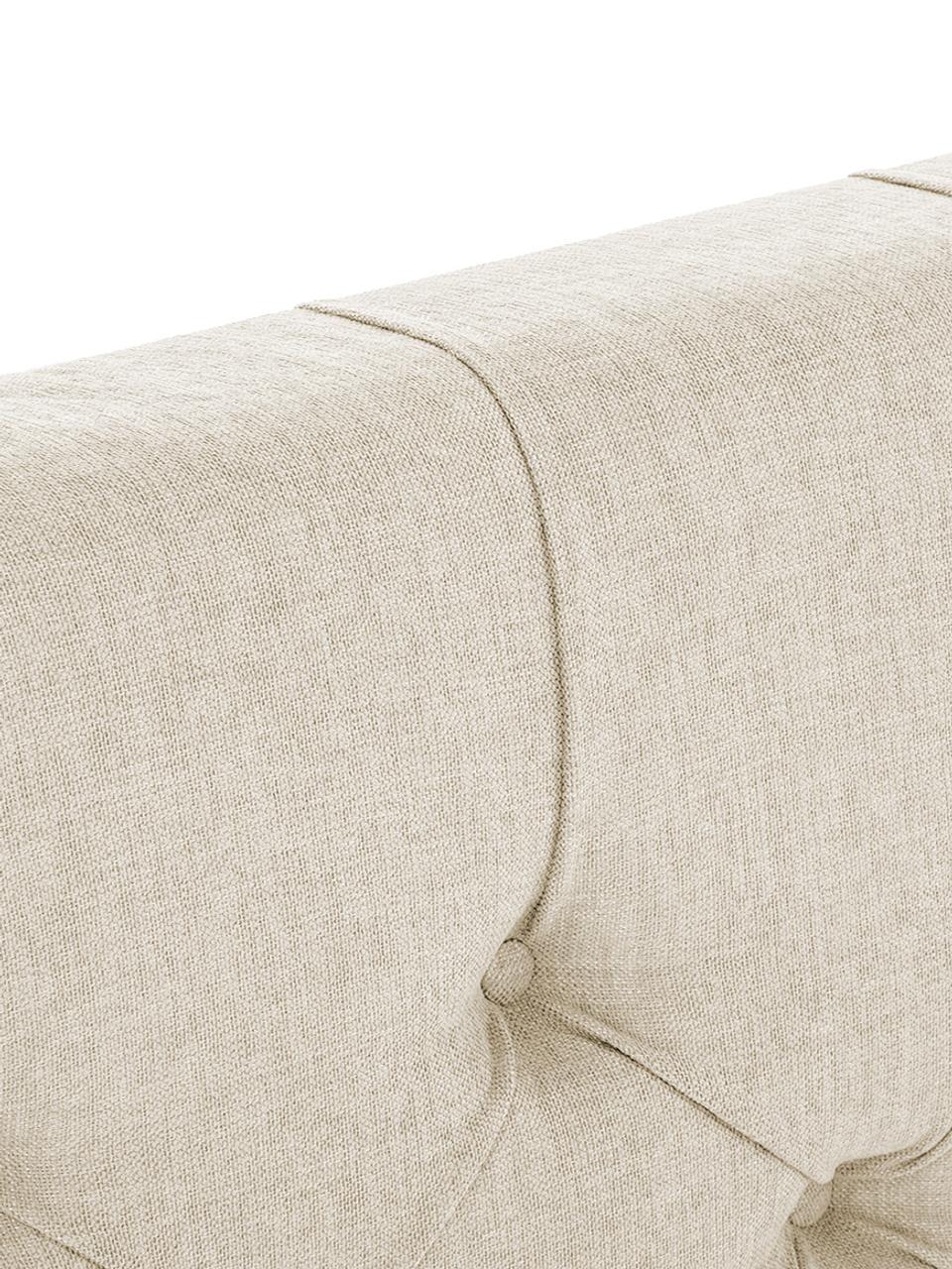 Łóżko kontynentalne premium Phoebe, Nogi: lite drewno bukowe, lakie, Beżowy, 200 x 200 cm