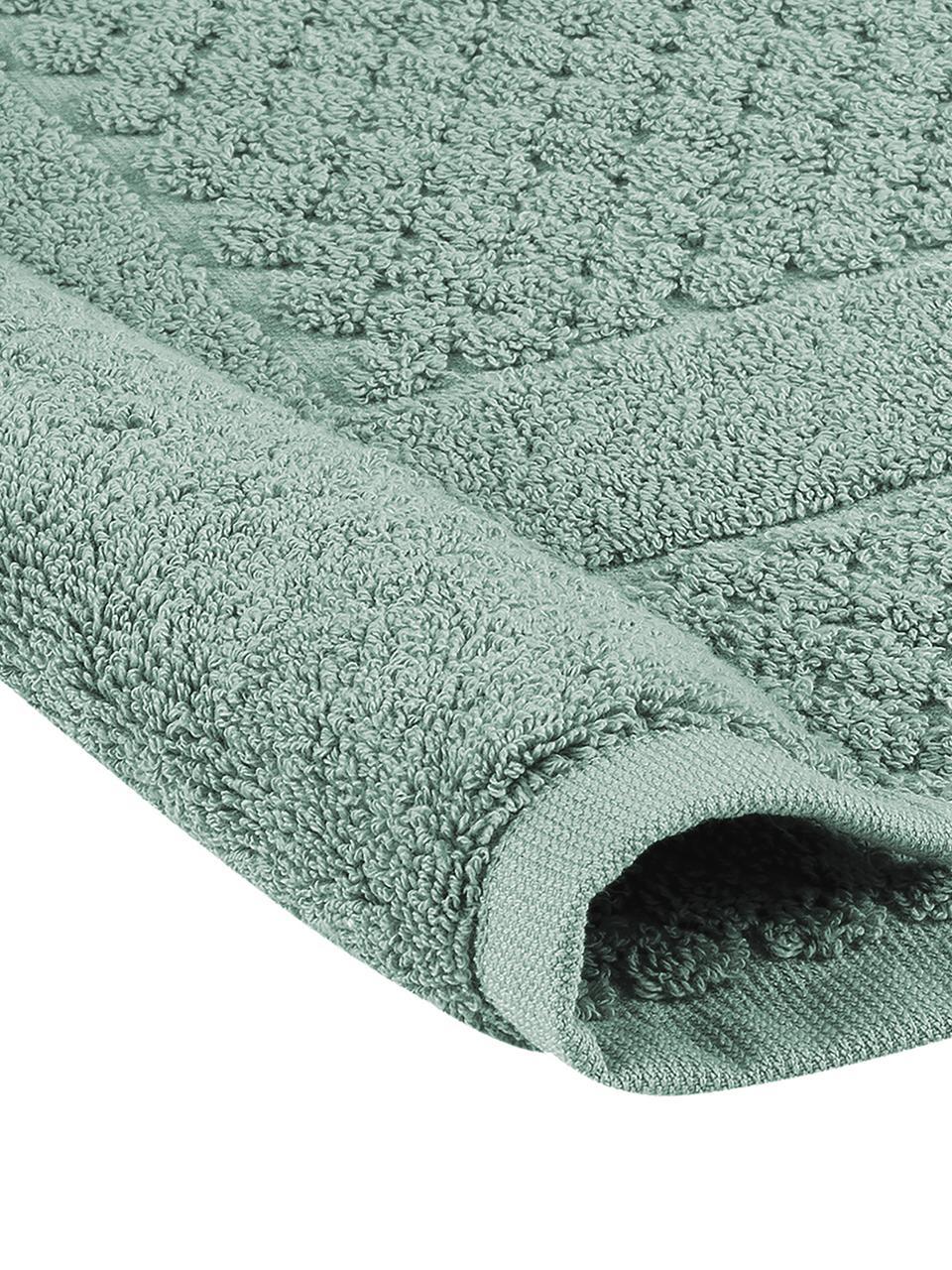 Badvorleger Katharina in Mint, 100% Baumwolle, schwere Qualität, 900 g/m², Mint, 50 x 70 cm