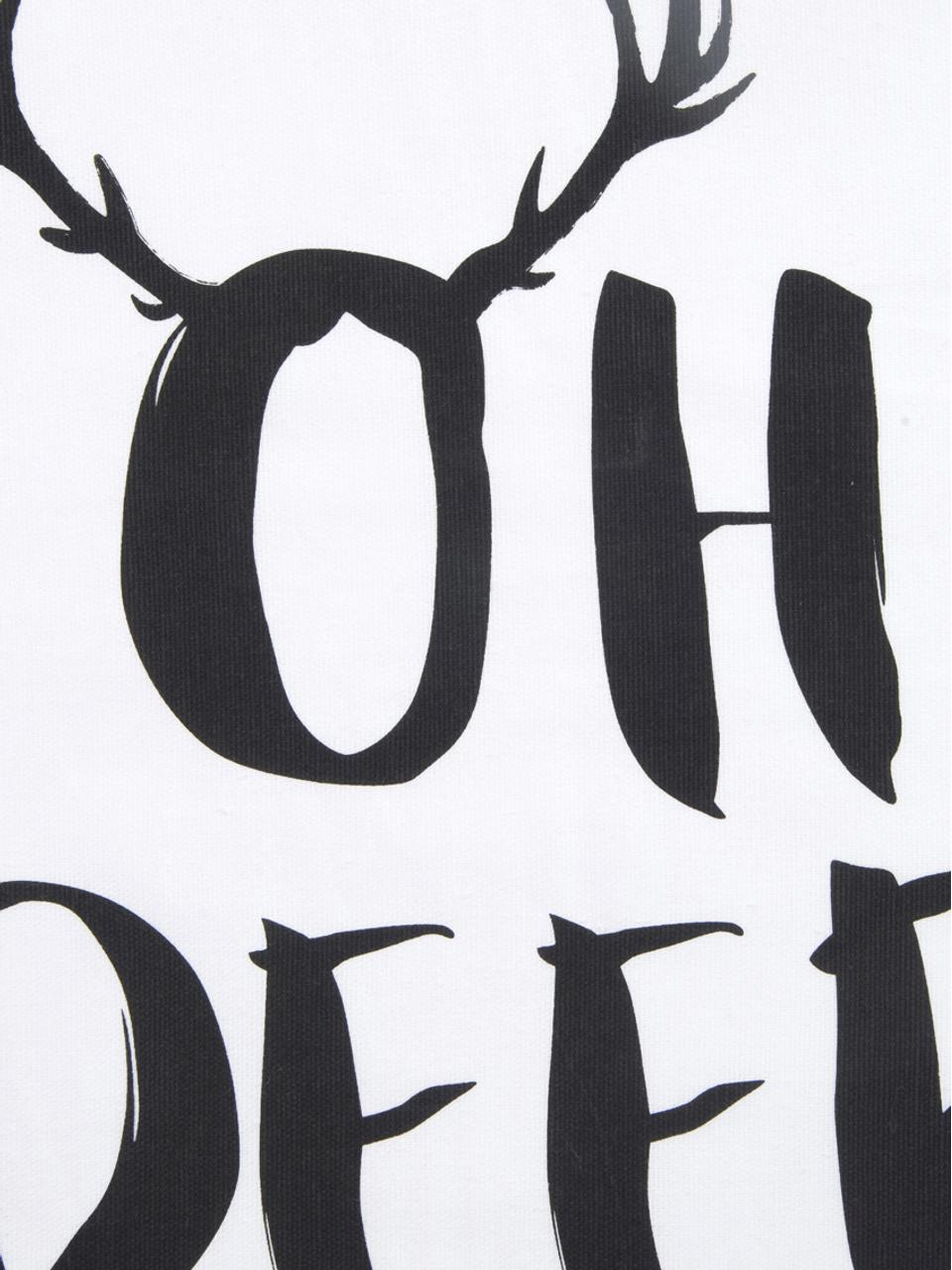 Housse de coussin 40x40Oh Deer, Noir, blanc