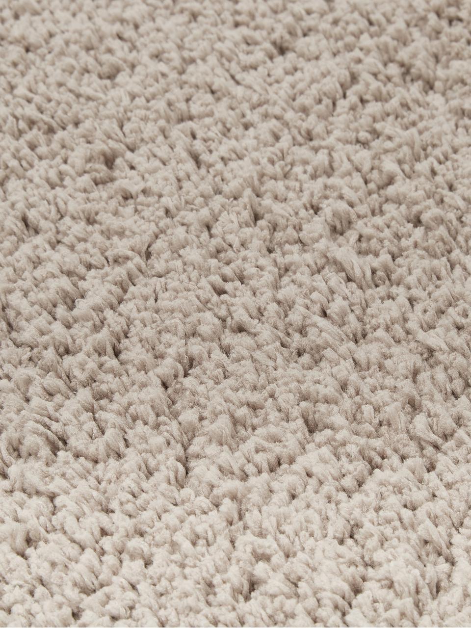 Alfombra mullida de pelo largo Leighton, Parte superior: 100%poliéster (microfibr, Reverso: 70%poliéster, 30%algodó, Beige, An 200 x L 300 cm (Tamaño L)
