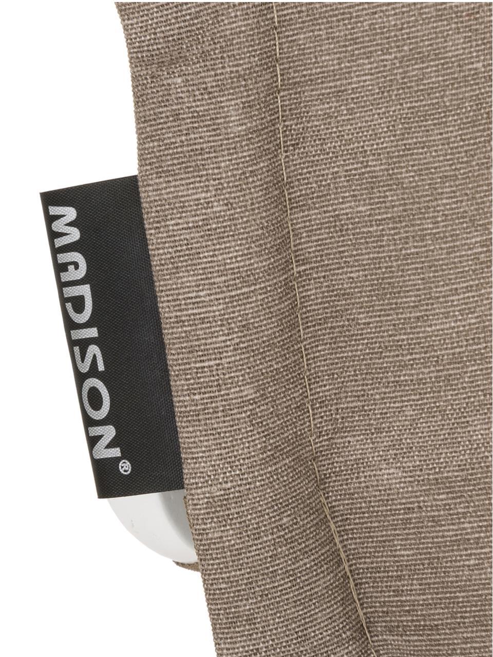 Nakładka na siedzisko z oparciem Panama, Tapicerka: 50% bawełna, 50%polieste, Taupe, S 50 x D 123 cm