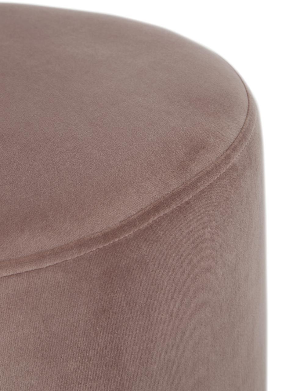 Tabouret en velours Orchid, Revêtement: rose Socle: couleur dorée