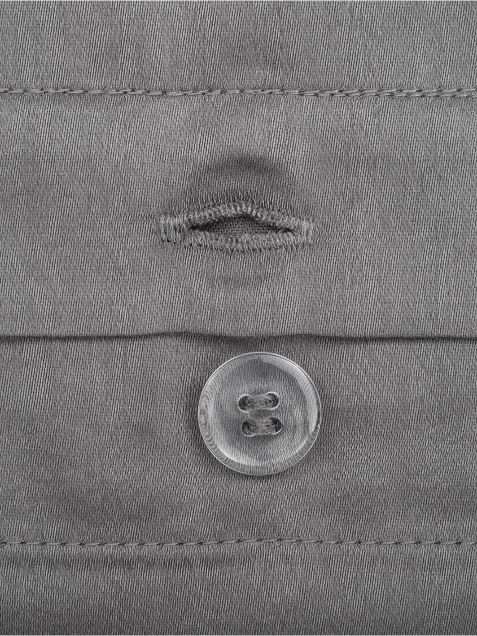 Parure copripiumino in raso di cotone grigio scuro Premium, Tessuto: raso, leggermente lucido, Grigio scuro, 155 x 200 cm