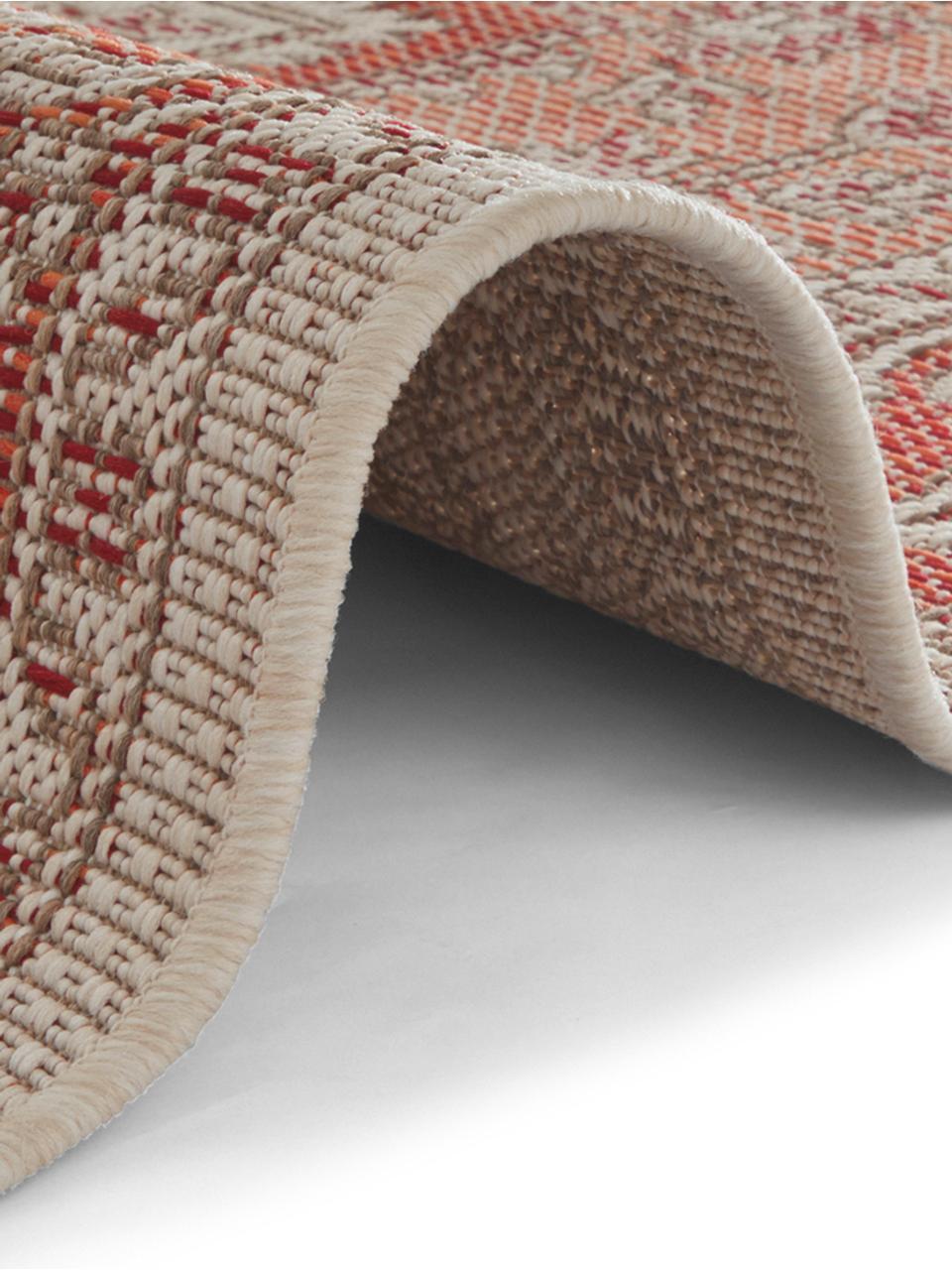 In- & Outdoor-Teppich Anjara im Vintage Style, 100% Polypropylen, Terrakottarot, Beige, B 200 x L 290 cm (Größe L)
