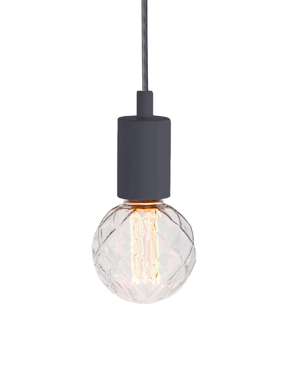Kleine Pendelleuchte Color, Grau, Ø 5 x H 6 cm