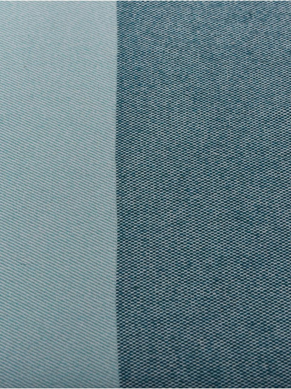 Plaid a righe Stripes, 50% cotone, 50% poliacrilico, Toni blu, Larg. 150 x Lung. 200 cm
